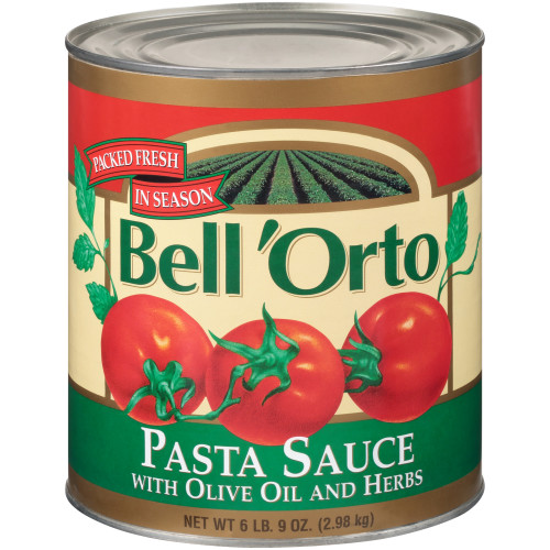 BELL ORTO Pasta Sauce with Oil & Herbs, 105 oz. Can (Pack of 6)