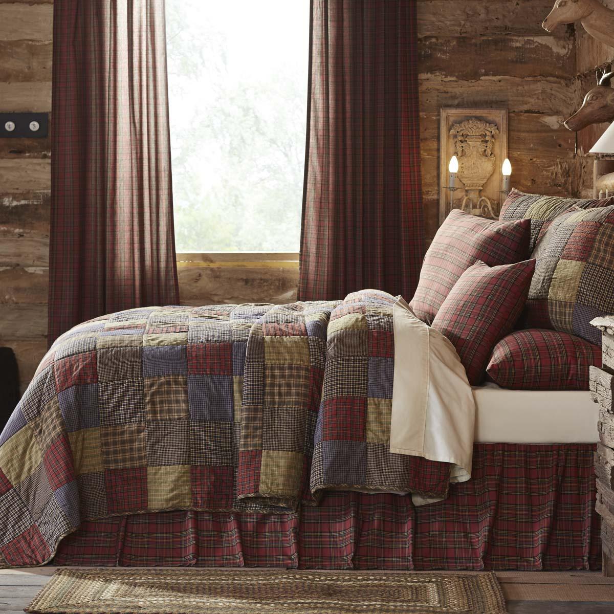 Cedar Ridge King Set; 1-Quilt 105Wx95L w/2 Shams 21x37