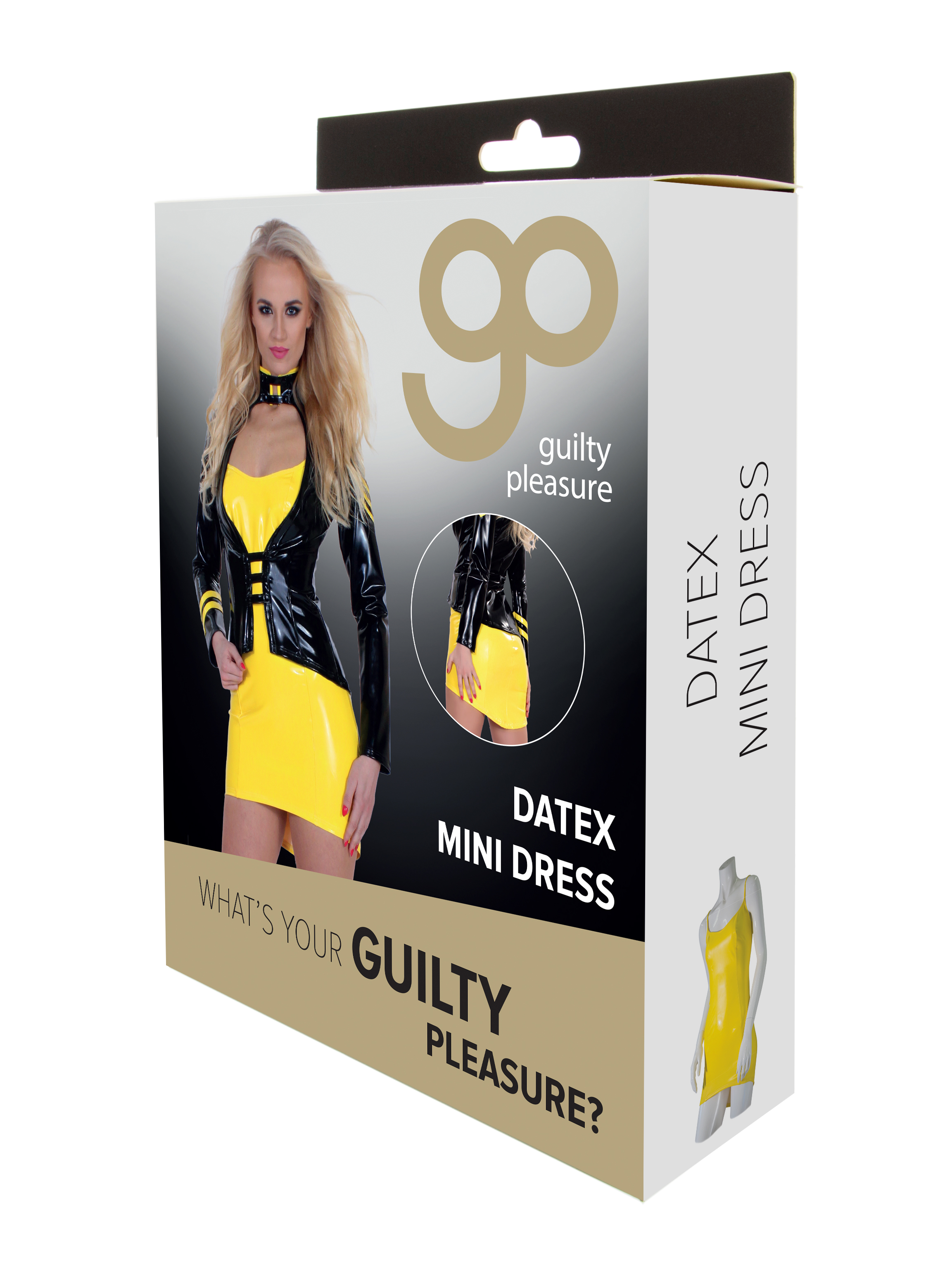 Guilty Pleasure - Datex Mini Dress - L - Yellow