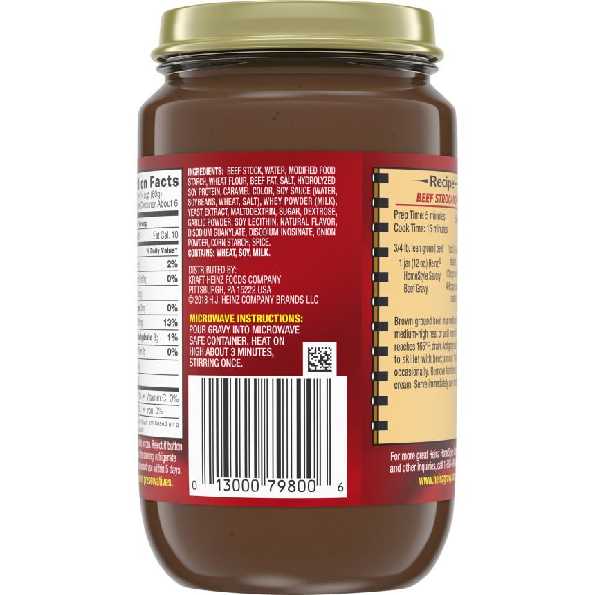 Heinz HomeStyle Savory Beef Gravy 12 oz. Jar