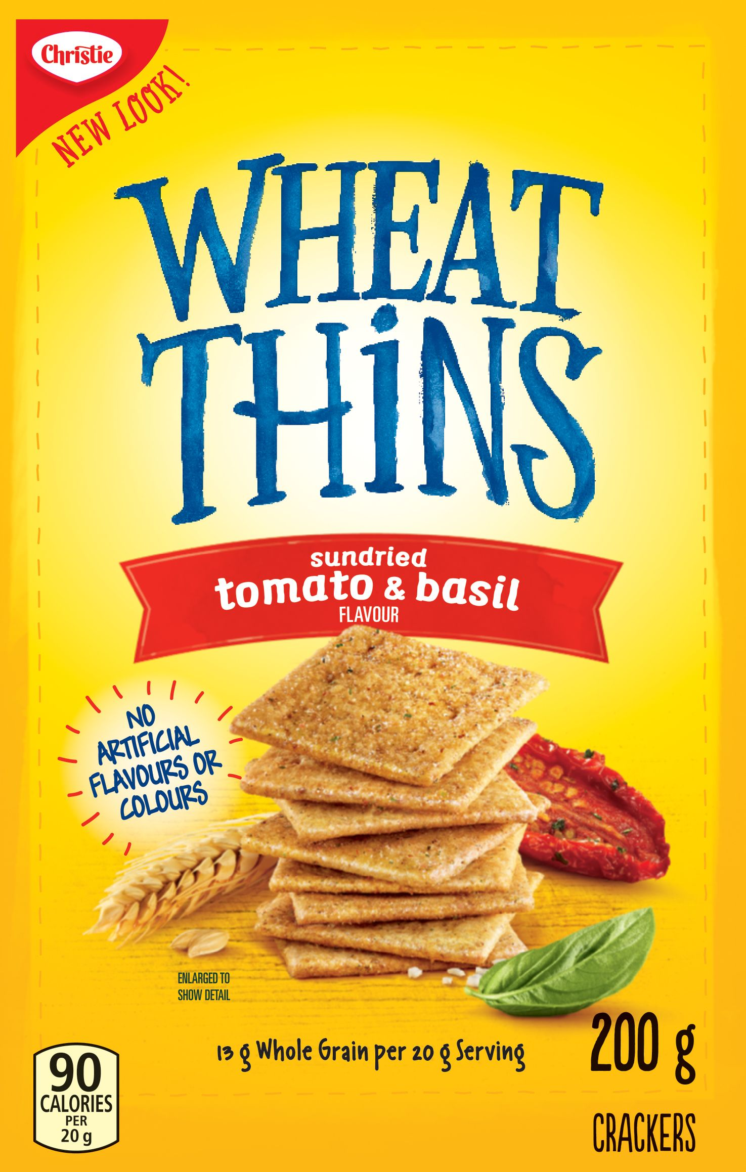 WHEAT THINS  SUN DRIED TOMATO AND BASIL 200 GRM