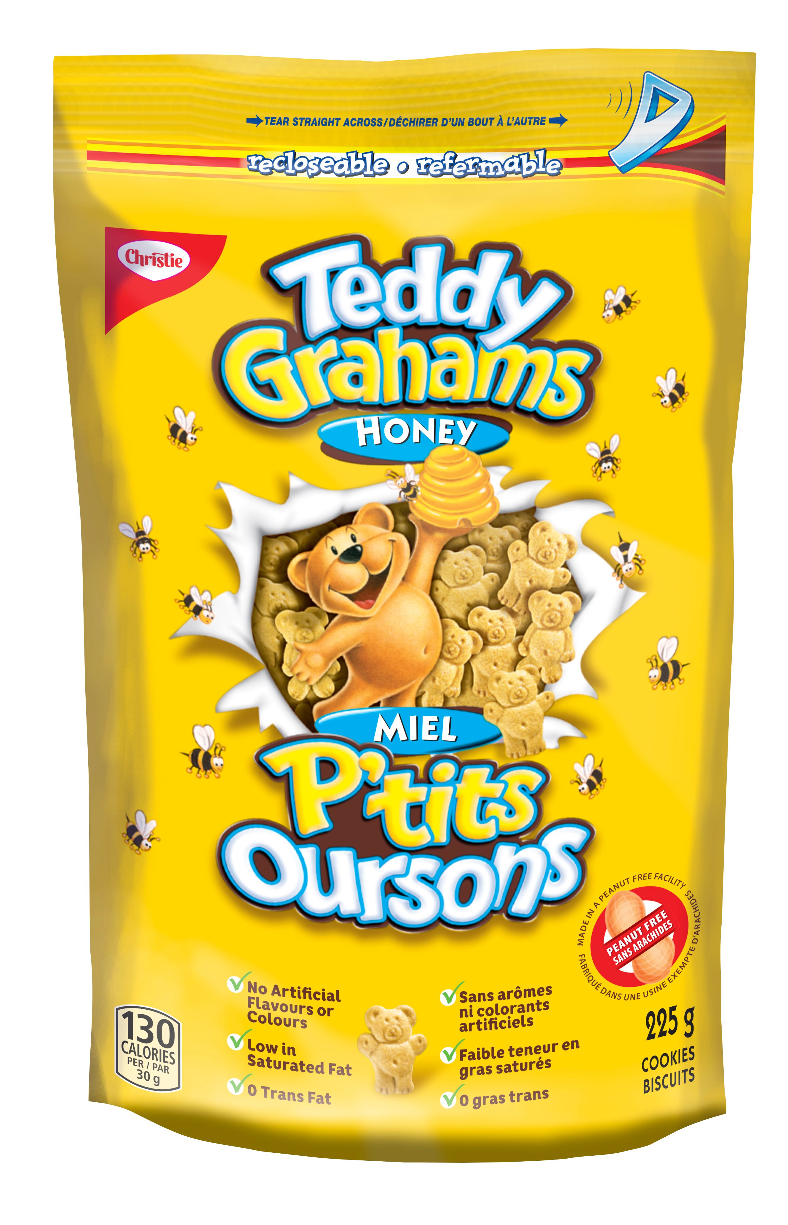 Teddy Grahams Honey Cookies 225 G