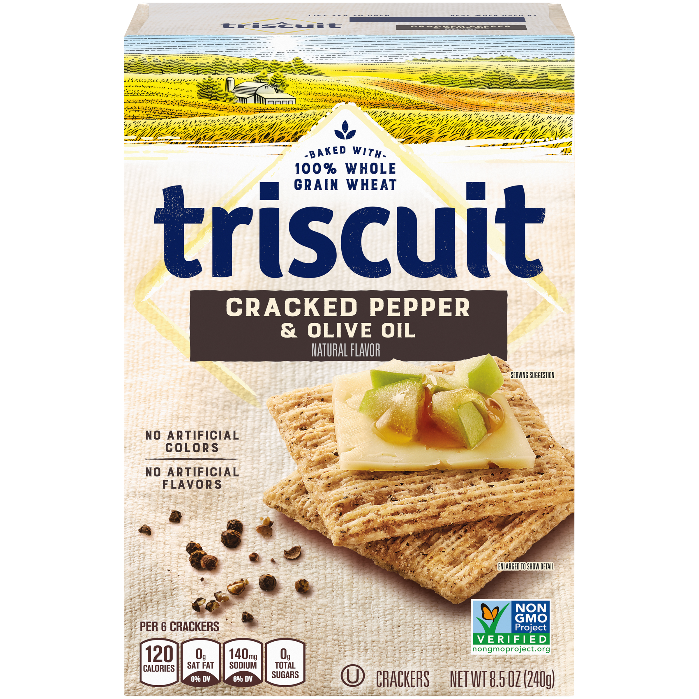 TRISCUIT Cracked Pepper And Olive Oil Crackers 8.5 oz