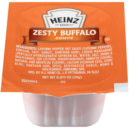 HEINZ Single Serve  Zesty Buffalo Sauce, 0.875 oz. Cups (Pack of 100)