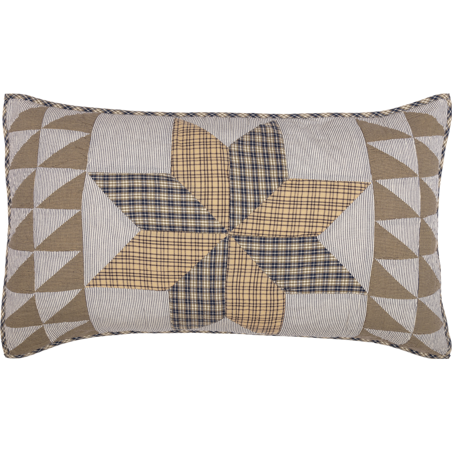 Dakota Star Farmhouse Blue King Sham 21x37