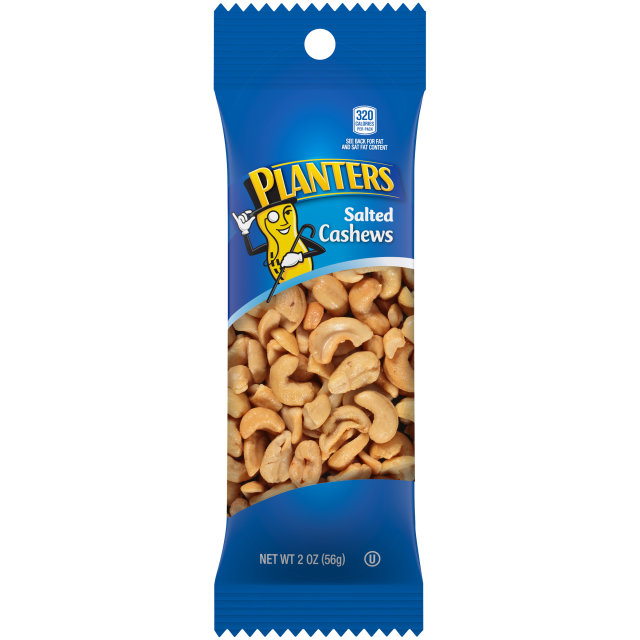 PLANTERS Salted Cashews 2 oz Bag