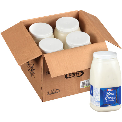 KRAFT Bulk Blue Cheese with Crumbles Salad Dressing, 1 gal. Jug (Pack of 4)