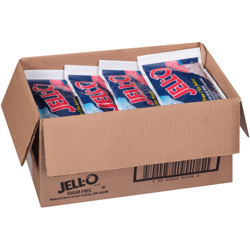 JELL-O Sugar-Free Chocolate Dry Instant Pudding, 3.5 oz. Pouches (Pack of 24)