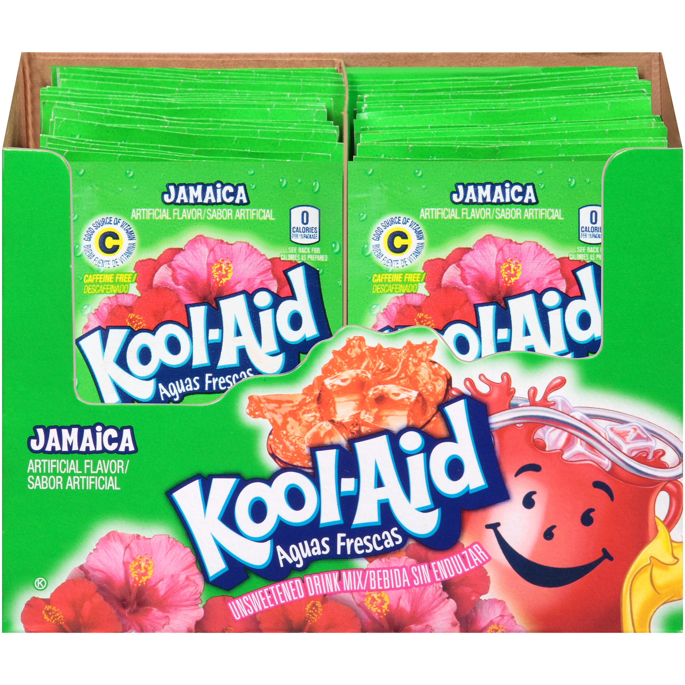 KOOL-AID Aguas Frescas Jamaica Drink Mix Unsweetened  0.14 oz Packet image