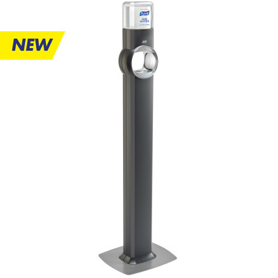 PURELL® FS8 Floor Stand Dispenser - Energy-on-the-Refill and SMARTLINK™ Capability - Graphite