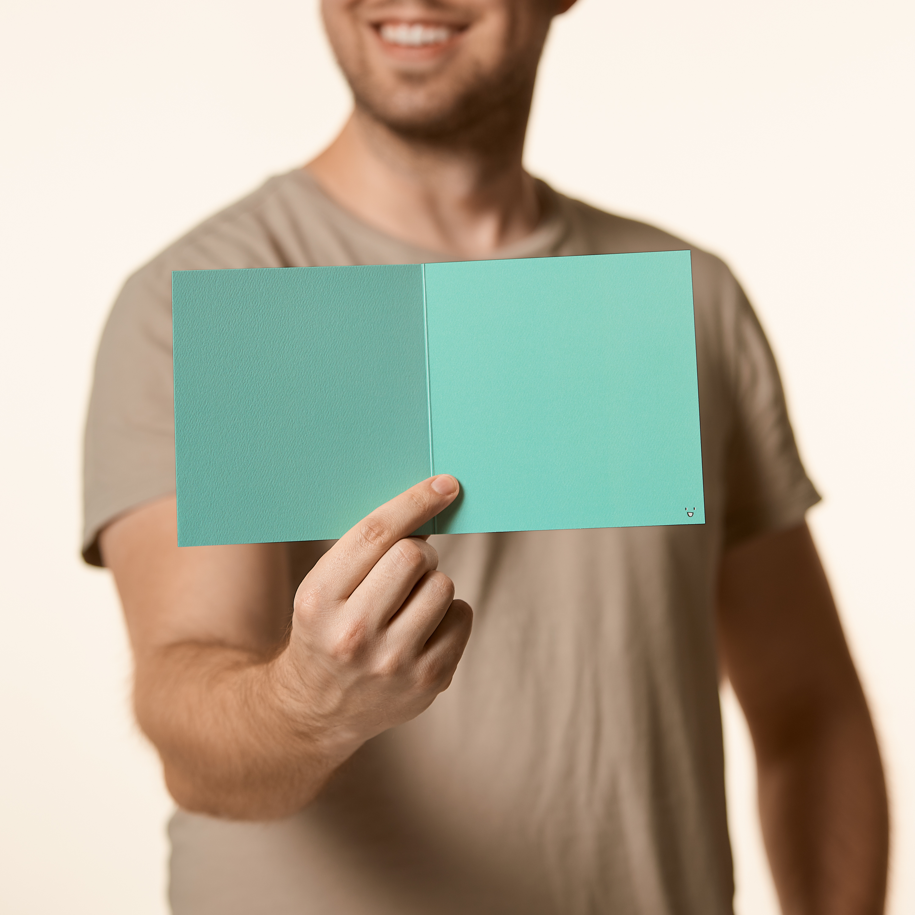 Thumbs Up Blank Greeting Card - Friendship, Thinking of You, Congratulations image