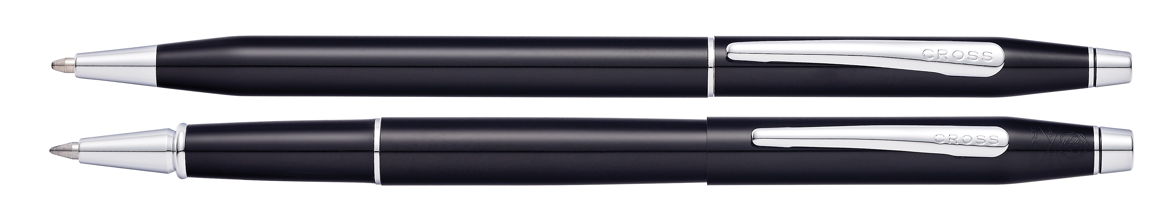 Classic Century Black Lacquer Ballpoint and Rollerball Gift Set