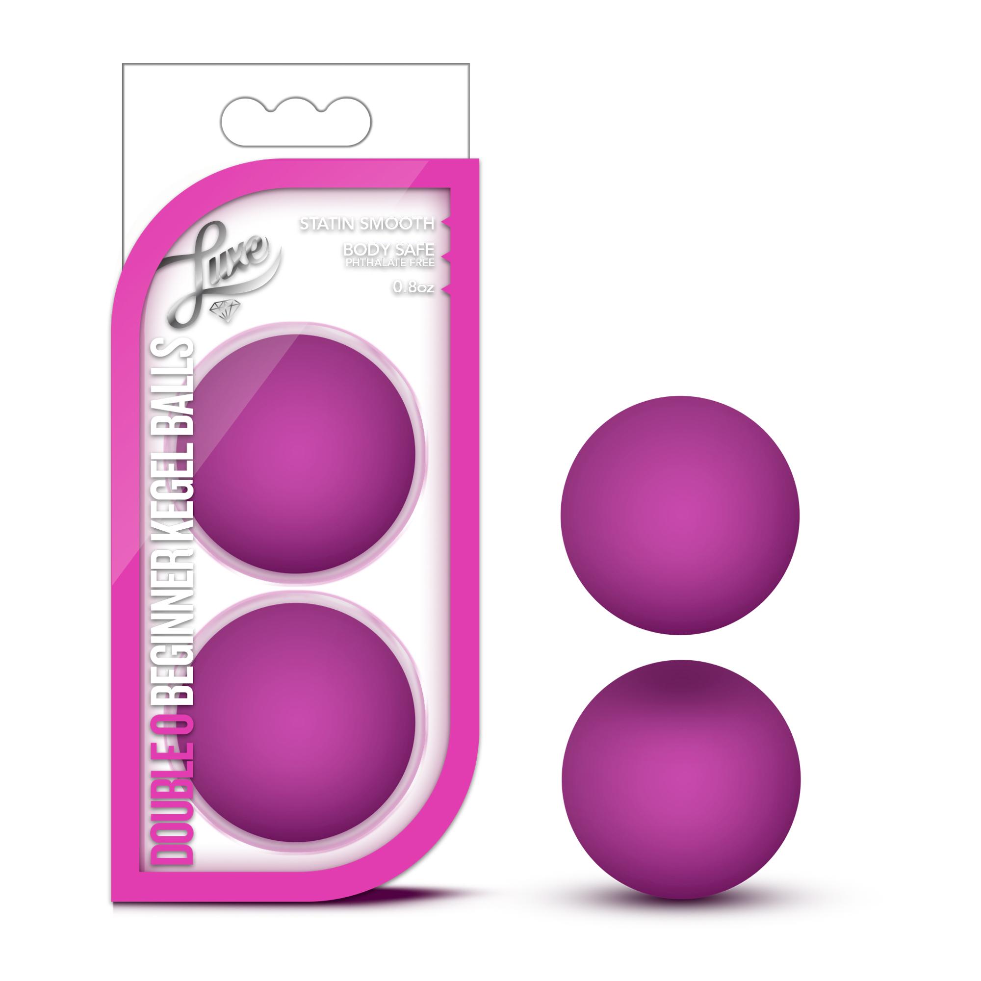 Luxe - Double O Beginner Kegel Balls - Pink