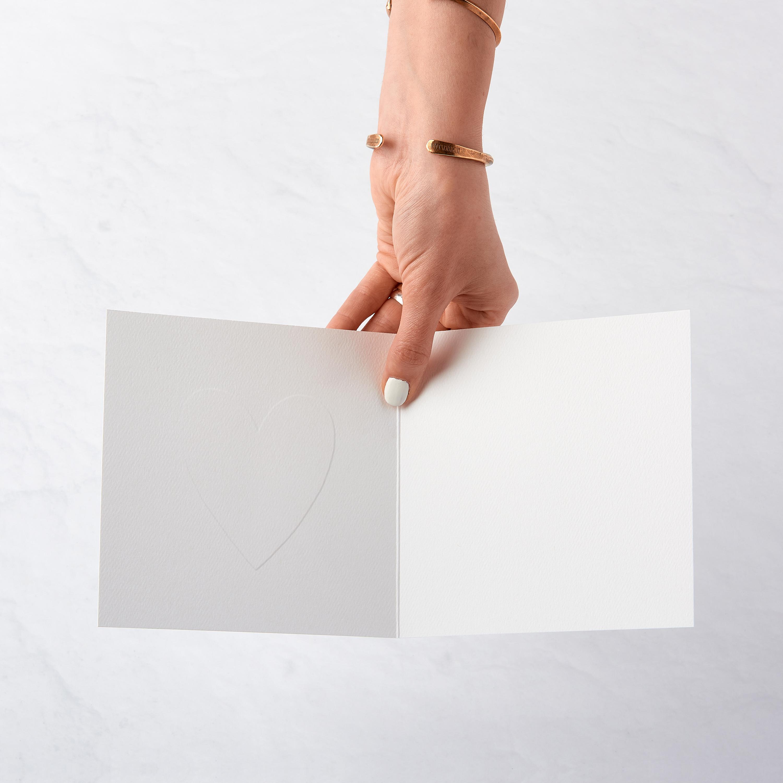 Heart Blank Card - Birthday, Friendship, Thinking of You, Anniversary, Wedding image