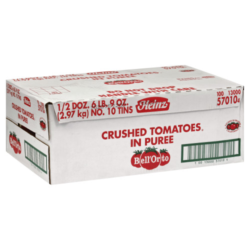 BELL ORTO Crushed Tomato in Puree, 105 oz. Can (Pack of 6)