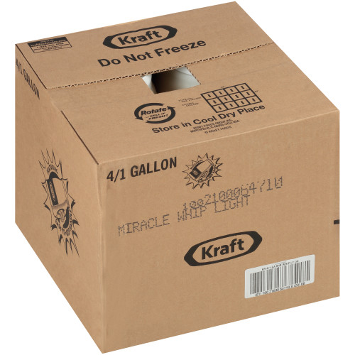 KRAFT Miracle Whip Light, 1 gal. Jugs (Pack of 4)
