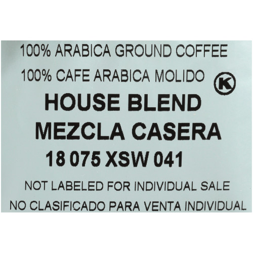 CAFÉ COLLECTIONS House Blend Roast & Ground Coffee, 2 oz. Bag (Pack of 128)