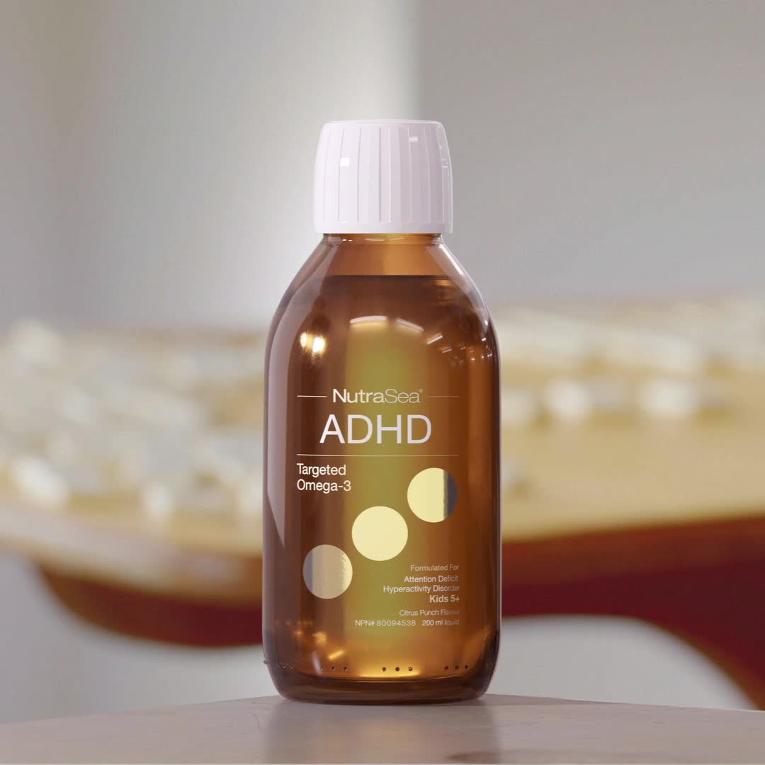 Promotional Video for NutraSea ADHD Targeted Omega-3, Citrus Punch / 6.8 fl oz (200 ml)