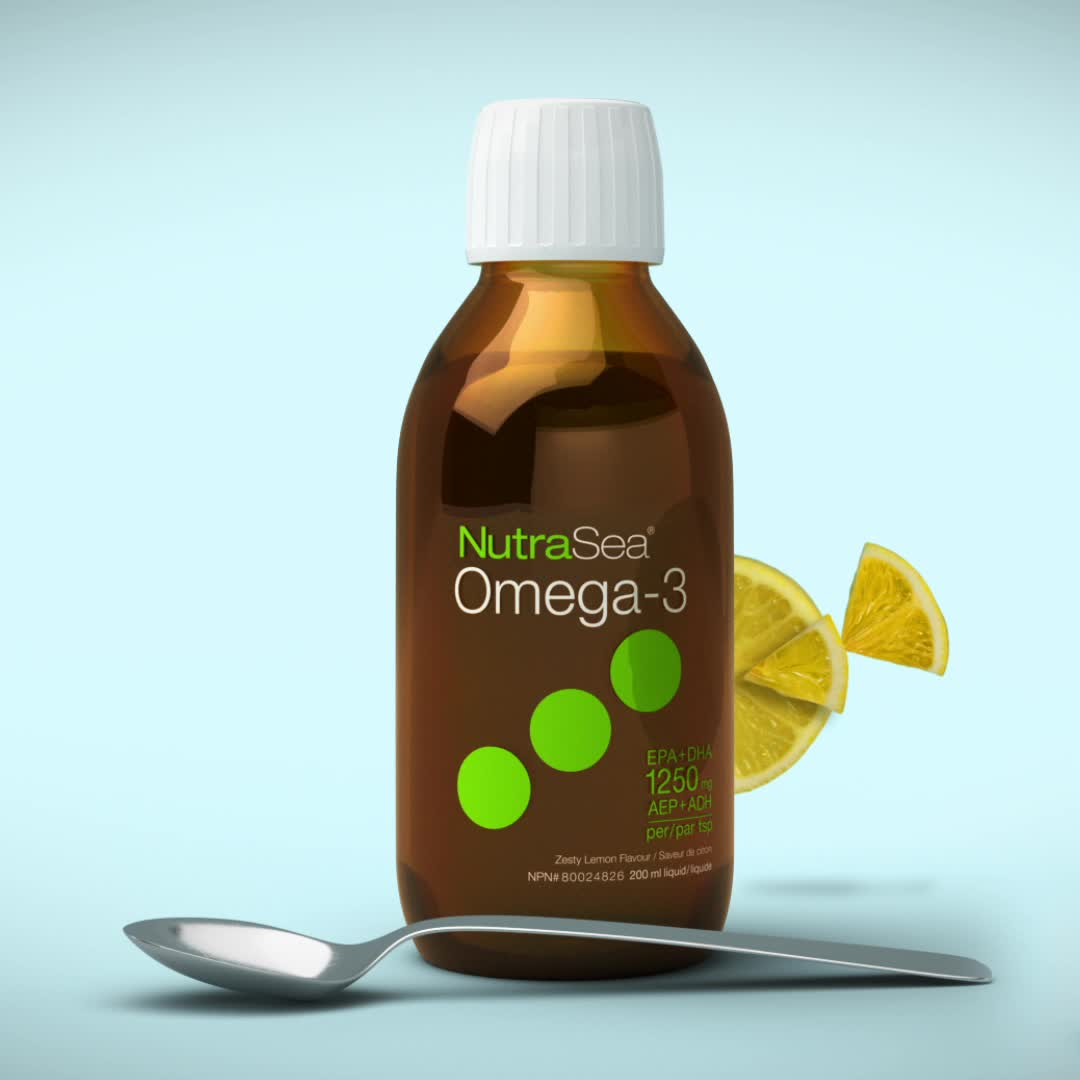 Promotional Video for NutraSea® Omega-3, Lemon / 6.8 fl oz (200 ml)