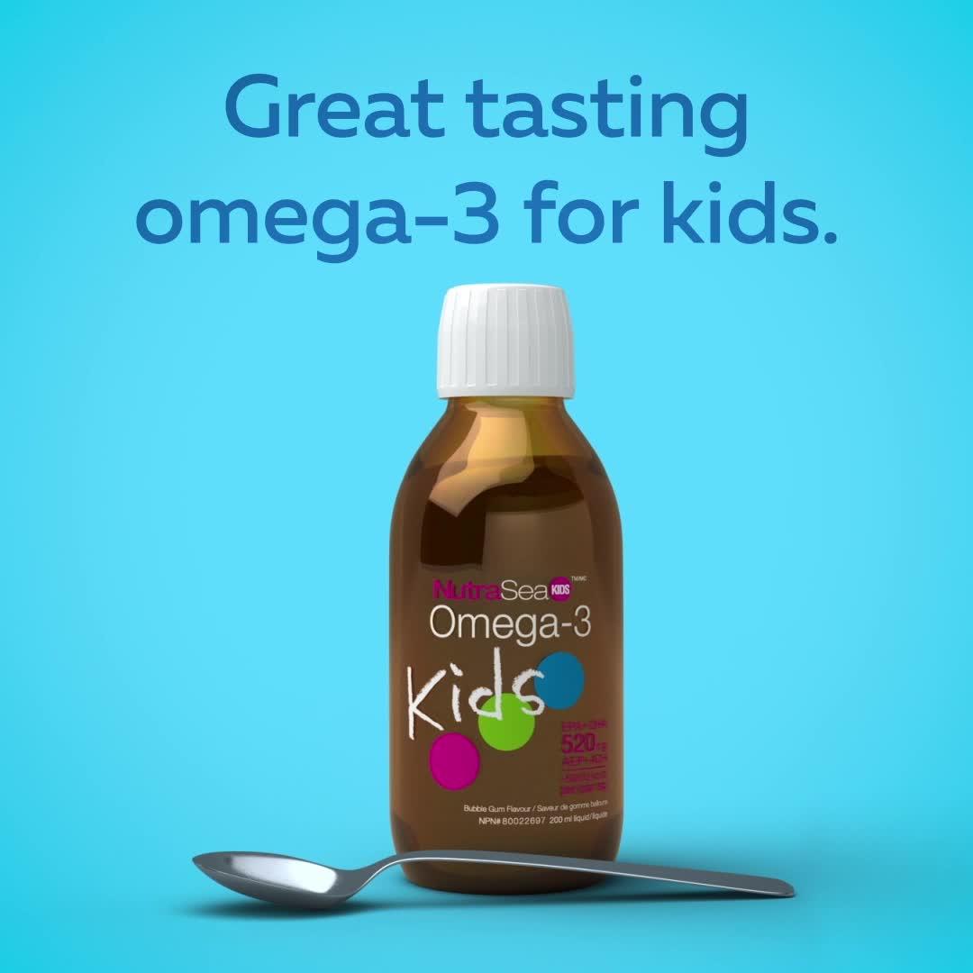 Promotional Video for NutraSea® Kids™ Omega-3, Bubblegum / 6.8 fl oz (200 ml)