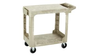 fg450589beig-material-handling-utility-carts-heavy-duty-flat-shelf-flat-handle-being-angle.tif