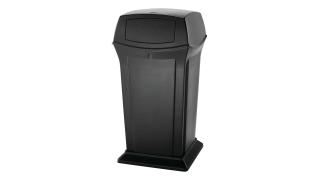fg917500bla-rcp-decorative-refuse-ranger-container-65g-with-2-doors-black-angle.tif