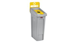 2007881-rcp-utility-refuse-slim-jim-recycling-solutions-base-lid-insert-bottles-cans-billboard-yellow-angle.tif