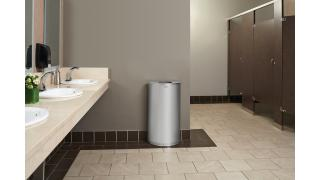 FGSO12SSSPL-rcp-decorative-refuse-half-round-silver-metallic-restroom-in-use.tif