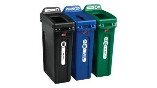 rcp-utility-refuse-recycling-series-slim-jim-23gal-with-lid-mixed-recycling-blue-open-top-green-open-top-black-angle-group.tif