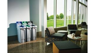 2007918-rcp-utility-refuse-slim-jim-recycling-solutions-23gal-3-stream-landfill-paper-compost-cafeteria-in-use-2.tif
