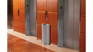 FGSO12SSSPL-rcp-decorative-refuse-half-round-satin-stainless-steel-elevator-lobby-in-use.tif