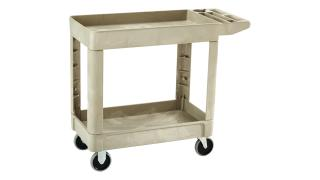 fg450089beig-material-handling-utility-carts-lipped-shelf-flat-handle-beige-angle.tif