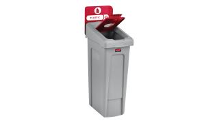 2007193-rcp-utility-refuse-slim-jim-recycling-solutions-base-lid-insert-bottles-cans-45-degree-billboard-red-angle.tif