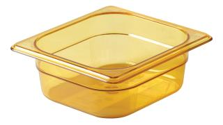 fg204p00ambr-rcp-food-service-food-storage-sixth-size-insert-hot-pan-2.5in-amber-angle.tif