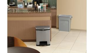 1901990-rcp-utility-slim-jim-vented-step-on-stainless-gray-coffee-shop-in-use.tif