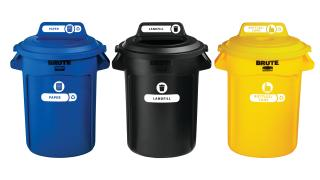 1977788-rcp-utility-refuse-recycling-series-brute-32gal-with-lid-mixed-recycling-blue-bottles-cans-yellow-open-top-black-primary-group.tif
