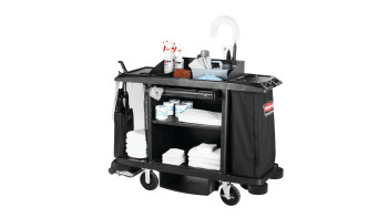 Executive Traditional Full-Size Housekeeping Cart, Black