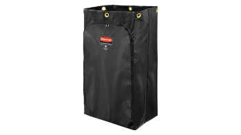 1966720-rcp-cleaning-cart-vinyl-bag-24-gal-traditional-black-silo-angle 1.tif