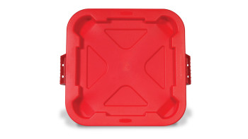 BRUTE® Square Snap-Lock® Lid Red