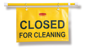"""Closed For Cleaning"" Hanging Safety Signs"