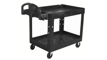 Heavy-Duty Ergo Handle Utility Carts (Lipped-Shelf)
