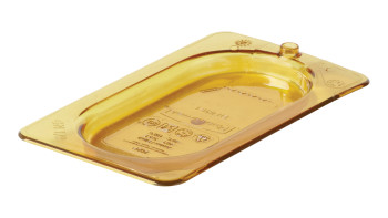 fg202p23ambr-rcp-food-service-food-storage-lid-ninth-with-peg-hole-amber-angle.tif