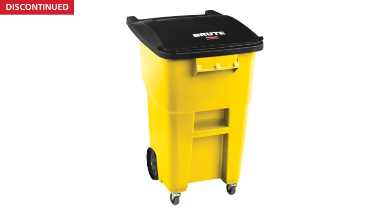 2018381-rcp-utility-refuse-recycling-series-brute-rollout-with-casters-50gal-yellow-angle.tif