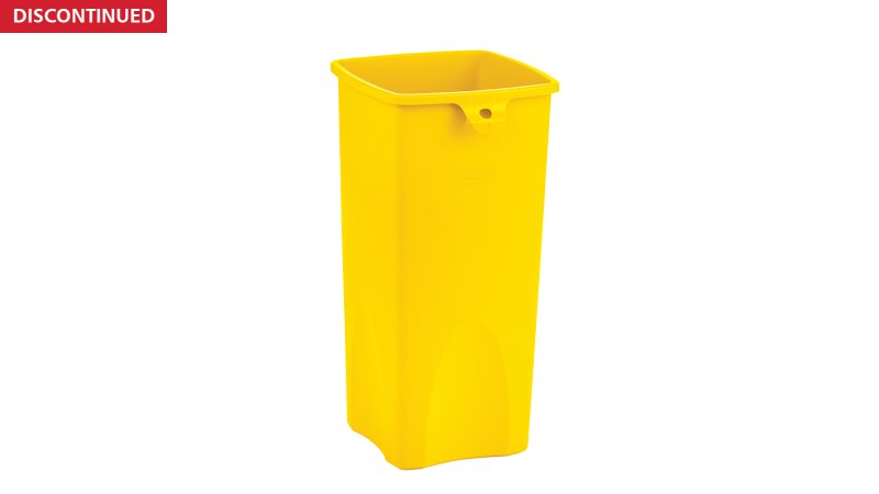 2018373-rcp-utility-refuse-recycling-series-untouchable-23gal-yellow-angle.tif