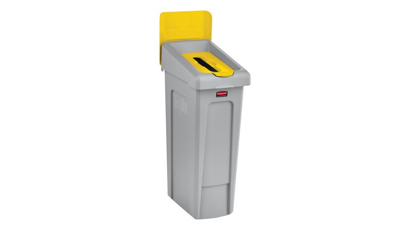 2007882-rcp-utility-refuse-slim-jim-recycling-solutions-base-lid-insert-paper-billboard-yellow-angle.tif