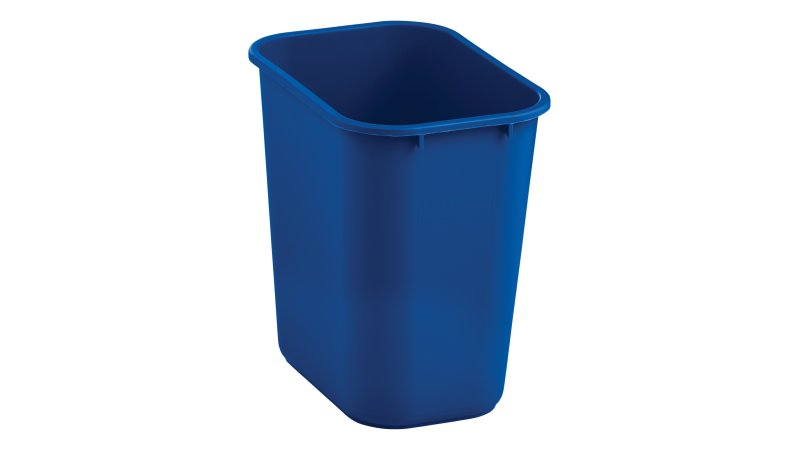 2031824-rcp-utility-refuse-recycling-series-wastebasket-28quart-blue-angle.tif