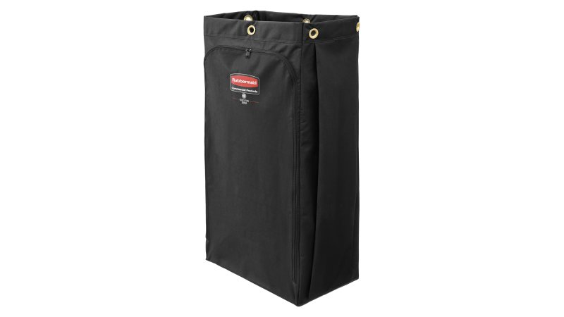 1966888-rcp-executive-series-canvas-vinyl-lined-bag-30-gal-black-silo-angle 1.tif