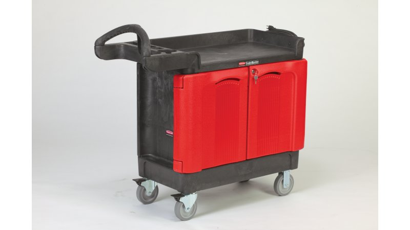 Trademaster 174 Carts With 2 Door Cabinet Rubbermaid