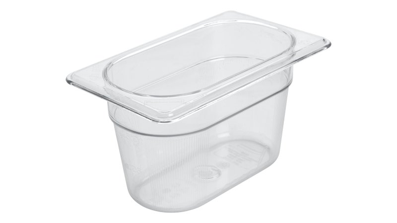 FG101P00CLR-rcp-food-service-insert-pan-one-ninth-size-4in-clear-angle.tif