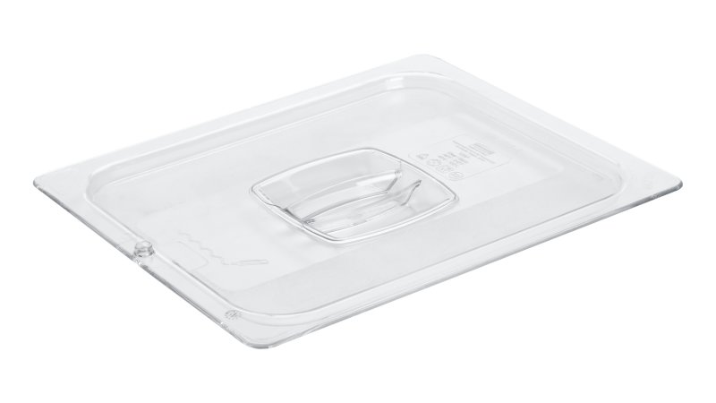 FG128P23CLR-rcp-food-service-pan-lid-half-size-peg-hole-clear-angle.tif
